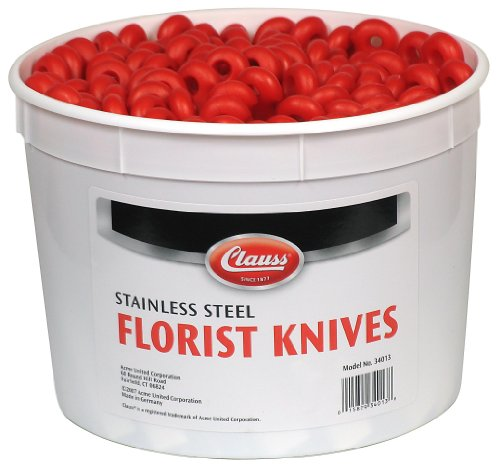 Bucket Knife (Clauss 34013 Pail of 100 Straight Blade Floral Knives)