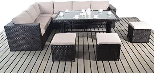Moderna mesa de jardín sofá de esquina, tamaño grande, 3 modular 2 ...