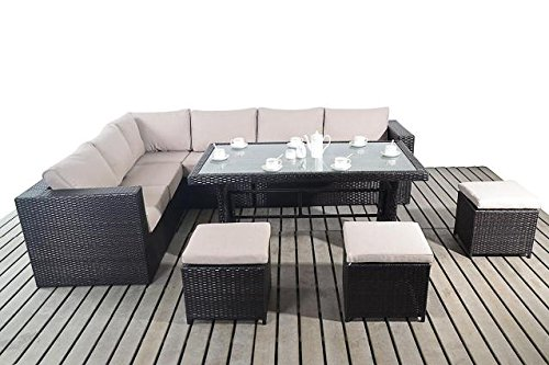 moderne gro e garten tisch ecke sofa 3 modular 2 sitzer. Black Bedroom Furniture Sets. Home Design Ideas