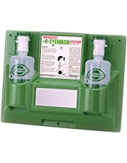 """Bel-Art Products F24868-0000 Scienceware Emergency Eye Wash Station with Two 1000 mL Empty Eye Wash Bottles, Double, 18"""" Width x 13-3/4"""" Height"""