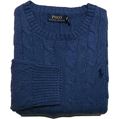 (ポロ ラルフローレン) コットン ケーブル セーター ブルー系 Polo Ralph Lauren 024[並行輸入品]