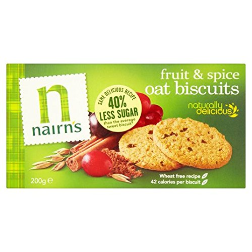 200 g de galletas de trigo Fruit & Spice libre de Nairn