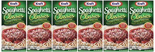 Spaghetti Dinner - Kraft Spaghetti Classics: Tangy Italian Mix with Parmesan (8 oz Size) 6 Pack
