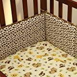 Little Bedding by NoJo Jungle Dreams Traditional 4 Sided Bumper