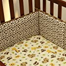 NoJo Little Bedding Traditional 4 Sided Bumper, Jungle Dreams