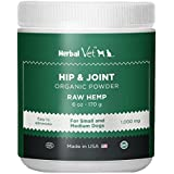 Herbal Vet Glucosamine for Dogs - Certified Organic Hip & Joint Powder Supplement for Dogs & Cats - Easily Mixes with Food- Relieve Joint Pain The Easy Way - 100% All Organic Ingredients(6OZ)