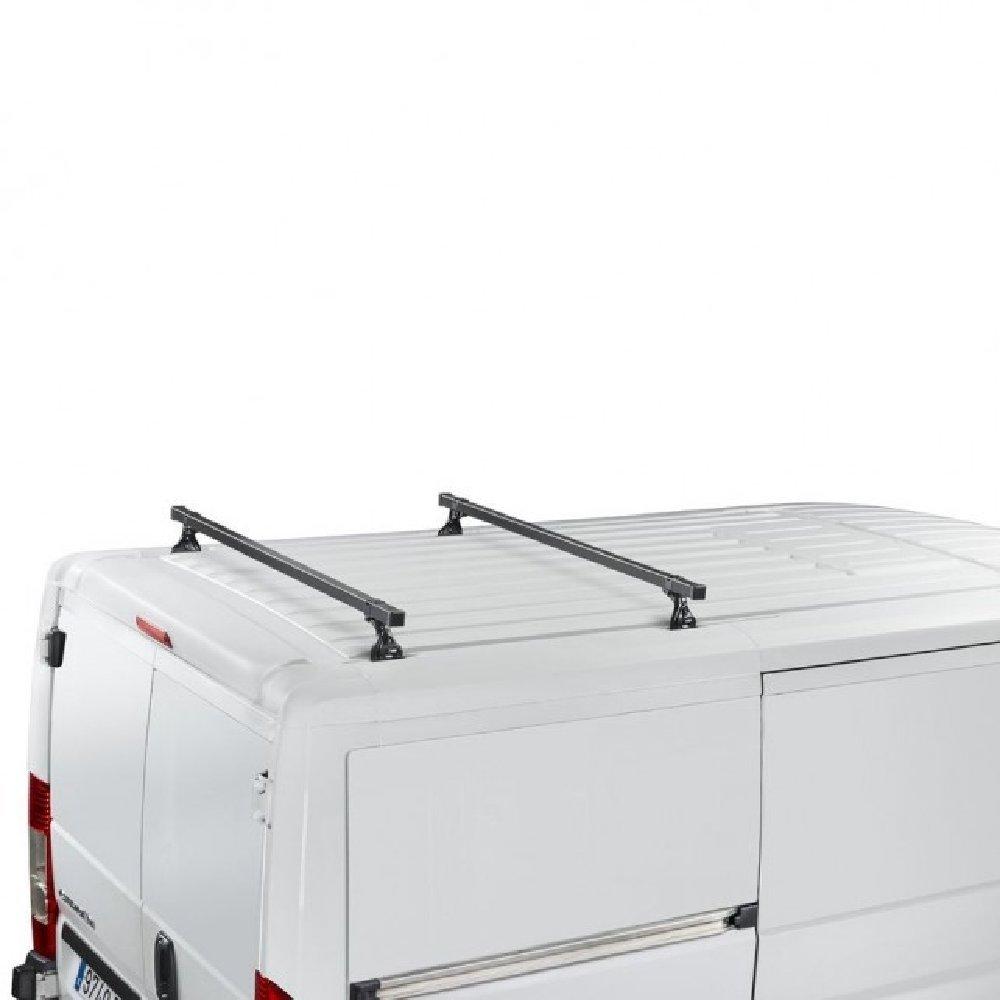 para Volkswagen Transporter T4 Cruz 35 x 35 de di/ámetro Sistema de 2 Barras de Techo de Acero para Cargas Pesadas 1991-2003