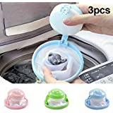 Symboat 3 Pcs Floating Pet Fur Catcher Reusable Hair Remover Tool for Washing Machine