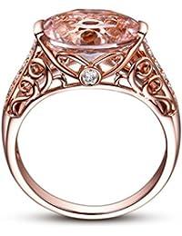 HIRIRI Hot Sale 2018 New Women Jewelry Gift Gemstone Ring Rose Gold Wedding Engagement Ring (7, Rose Gold)