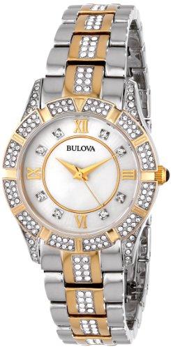 Bulova Women's 98L135 Swarovski Crystal Two Tone Bracelet Watch