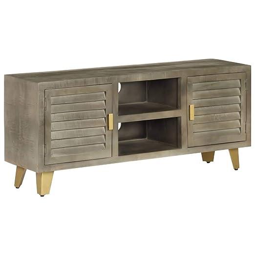 FESTNIGHT Mesa Televisión, Mueble TV Salón Diseño Vintage, con 2 ...
