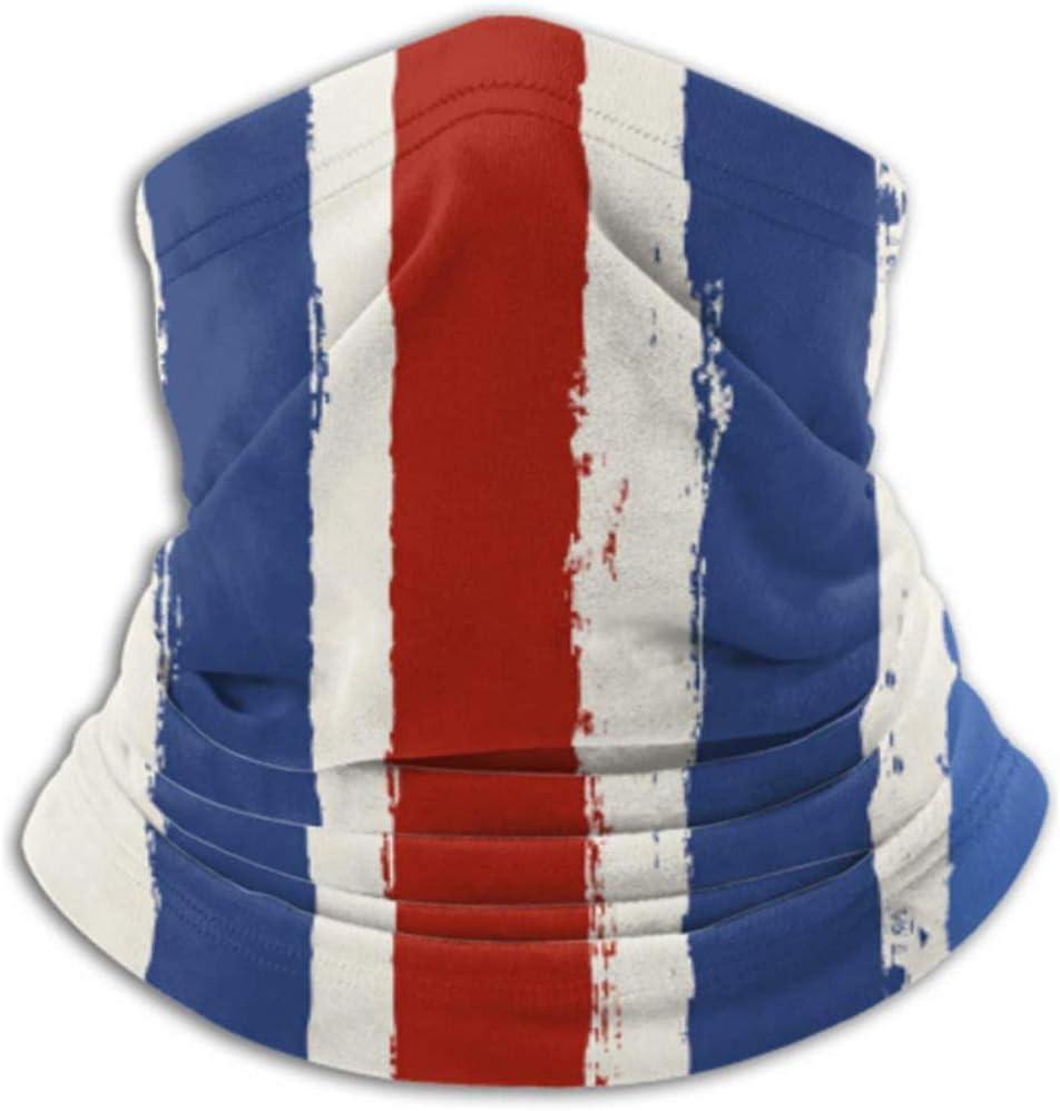 un masque complet ou un chapeau un cache-cou un masque de cou le visage NKW-247 Xian Shiy Foulard ray/é rouge bleu Style am/éricain un demi-masque