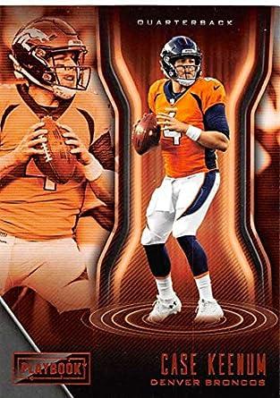 457491c8 Amazon.com: 2018 Playbook Football Orange Parallel #43 Case Keenum ...