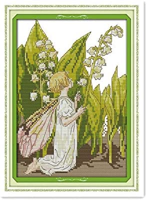 Cross Stitch Fabric CT number: 14CT Printed Zamtac Zhong Linghua Elf Small Manual Cross Stitch Kit DMC Spiraea Your material Hand bag diy Decoration Accessories Painting