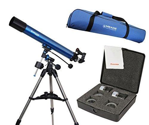 Meade Polaris 80mm German Equatorial Telescope w/ Travel Bag & Eyepiece Accessory Kit