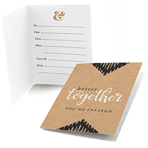 Big Dot of Happiness Better Together - Fill in Bridal Shower or Wedding Invitations (8 Count)
