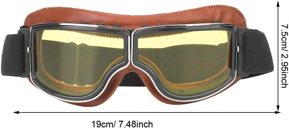 Tbest Vintage Motorradbrille braune Klappsonnenbrille f/ür den Au/ßenbereich Motorradbrille f/ür Motorradfahrer Sportliche Reitsonnenbrille