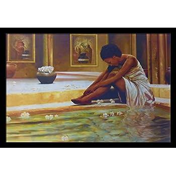 Amazon Com Us Art Vintage Bath Lady Bathroom 24x36