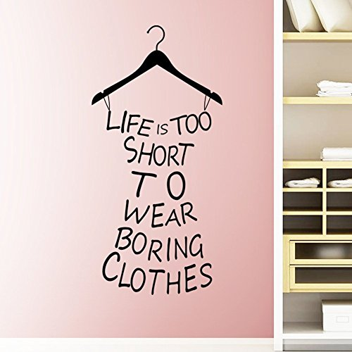 Vinyl Removable Life is Short Words Quotes Art Wall Stickers - 6