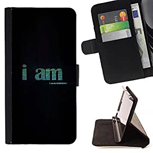 Momo Phone Case / Flip Funda de Cuero Case Cover - YO SOY - SER TODO - HTC One M9