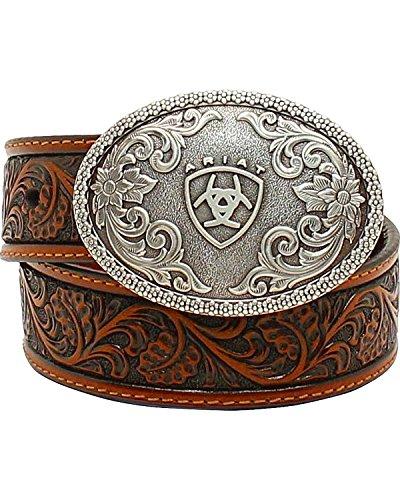 Ariat Boys' Range Tooled Belt Tan 28 - Ariat Embossed Belt