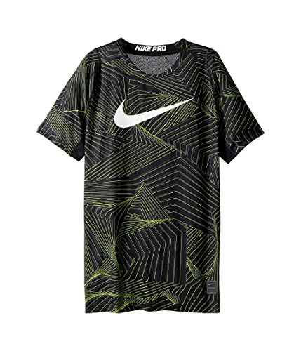 NIKE Boy's Pro Cool Pro Cool HBR Short Sleeve Fitted Training Top (Medium, - Nike Gold Shorts Training