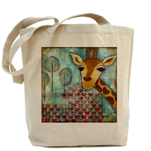 CafePress -~Hello bolsa para herramientas de diseño de estampado de jirafa bolsa para herramientas de