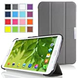 MoKo Samsung Galaxy Tab 3 8.0 Case - Ultra Slim Lightweight Smart-shell Stand Case for Samsung Galaxy Tab 3 8.0 Inch SM-T3100 / SM-T3110 Android Tablet, GRAY (with Smart Auto Wake / Sleep Feature)