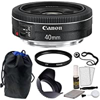Canon EF 40mm f/2.8 STM Lens + Multi Accessory Bundle