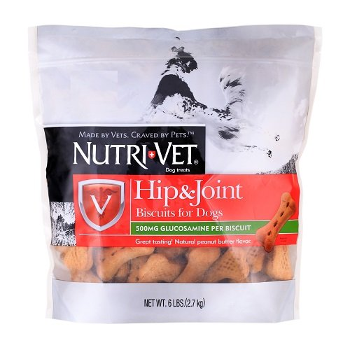 Dog Glucosamine Biscuits (Nutri-Vet Hip & Joint Extra Strength Biscuits for Dogs, 6 Pounds)