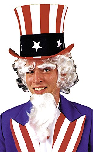 Uncle Sam Wig Goatee Eyebrow G Halloween Costume - 1 (Uncle Sam Wig)