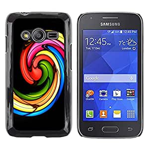 LECELL--Funda protectora / Cubierta / Piel For Samsung Galaxy Ace 4 G313 SM-G313F -- Church Stained Glass Black --
