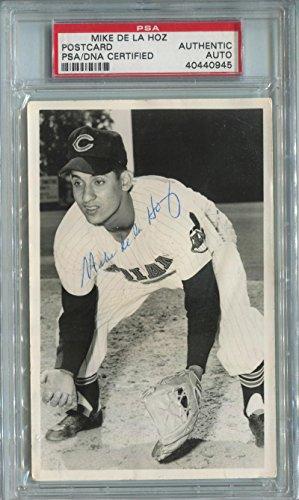 Mike De La Hoz Signed Photograph Postcard. PSA