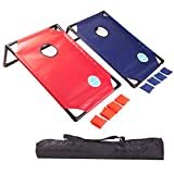 OUTUGO Bean Bag Toss Cornhole Game Set with Travel Carrying Case - Outdoor, Lawn, BBQ, Camping, Outdoor Events