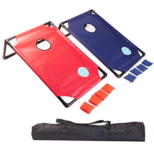 OUTUGO Bean Bag Toss Cornhole Game Set with Travel Carrying Case - Outdoor, Lawn, BBQ, Camping, Outdoor Events by OUTUGO