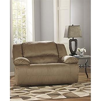 Ashley Signature Design 5780252 Hogan Mocha Reclining Chair And A Half
