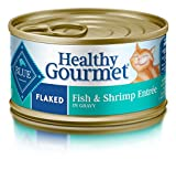 Blue Buffalo Healthy Gourmet Natural Adult Flaked Wet Cat Food, Fish & Shrimp 3-oz cans (Pack of 24)