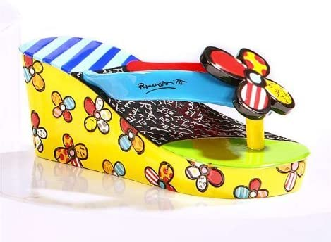 Gift Craft Romero Britto Polyresin Table Topper, Flip-Flop Sandal