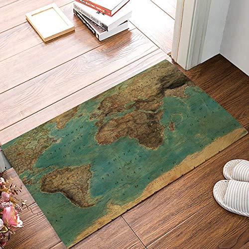MEINIDoor Mat Indoor Outdoor Entrance Rug Floor Mats Home Welcome Shoe Scraper Doormat Non-Slip, (Vintage World Map) for $<!--$8.62-->