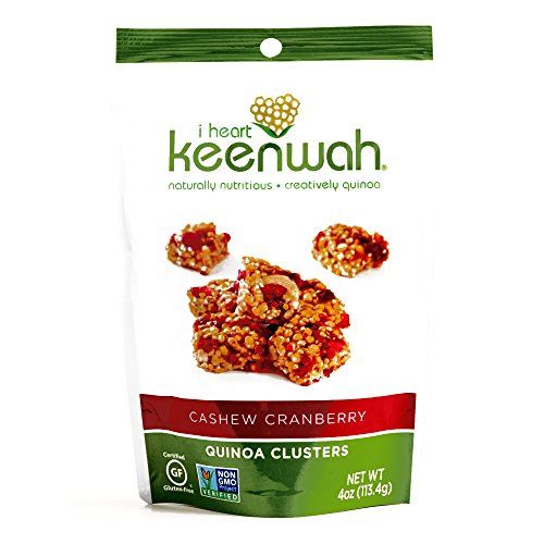 I Heart Keenwah Cranberry Cashew Clusters 4 oz each (2 Items Per Order)