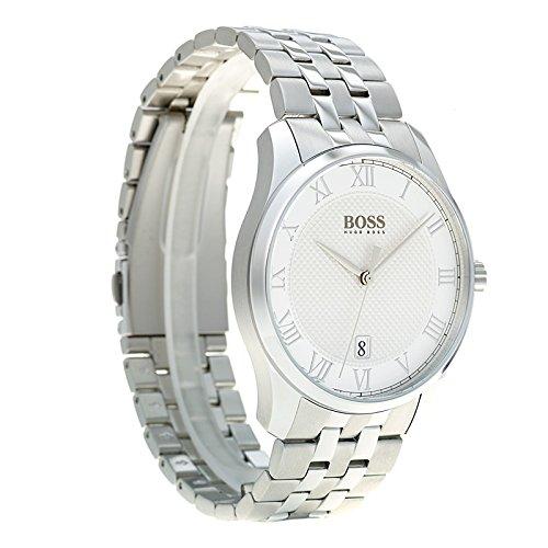 29e3aaff84 Amazon.com: Hugo Boss 1513589 Master Men's Watch Silver 41mm Stainless  Steel: Watches