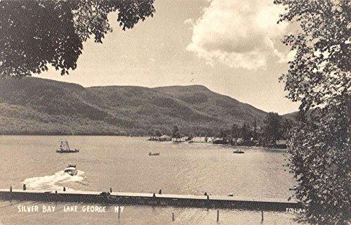 Lake George New York Silver Bay Real Photo Antique Postcard K80821