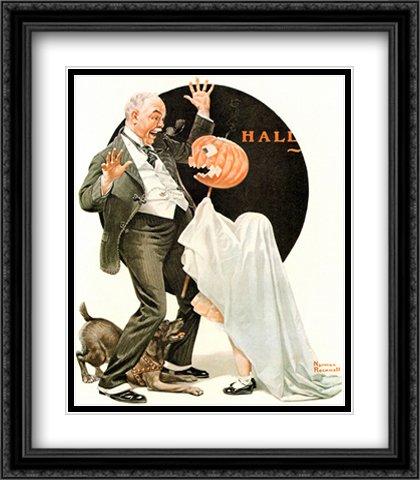 (Norman Rockwell 2x Matted 28x32 Black Ornate Large Framed Art Print)