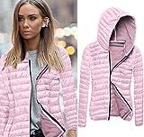 Fashion Sweater, Egmy 1PC Women Long Sleeve Winter Hooded Coat Zipper Jacket (M, Pink)