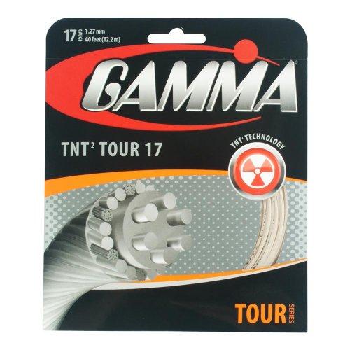 Gamma Natural Gut (Gamma TNT2 Tour 17G Tennis String, Natural)
