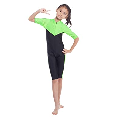 Girls Boys Kids Modesty Diving Suit Jumpsuit One... YEESAM Modest Swimwear