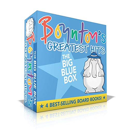 Boynton's Greatest Hits The Big Blue Box: Moo, Baa, La La La!; A to Z; Doggies; Blue Hat, Green Hat (Boynton Board Books) (Pajama Book)
