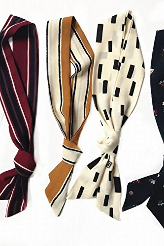 Generic Korean_wild_spring summer ,_snow_woven_ Bow Tie striped_ Scarf shawl _friezes_made_led_to Korean_style_of small silk Scarf shawl -