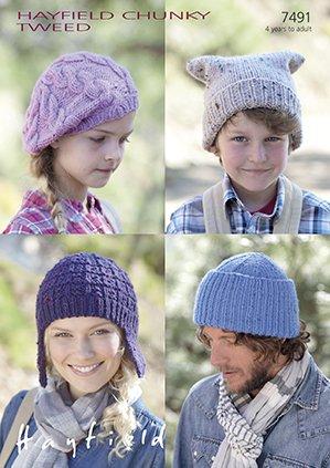 Sirdarhayfield Chunky Tweed With Wool Knitting Pattern 7491 Watch