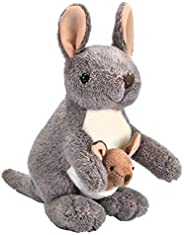 Wild Republic Kangaroo with Joey Plush, Stuffed Animal, Plush Toy, Gifts for Kids, Cuddlekins 8 Inches